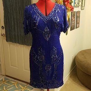 Vintage Blue sequin dress